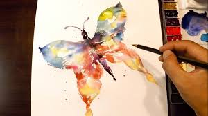 how to paint a butterfly watercolor techinique youtube