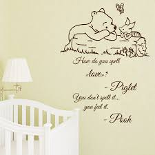 compare prices on vinyl sticker nursery decor online shopping buy new wall decal quote winnie the pooh decals kids vinyl sticker nursery decor os1473 free shipping