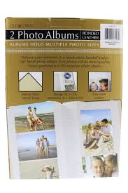 town photo albums 2 pack town leather photo albums brown arts