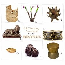8th anniversary gifts for breaking the mold the 8th anniversary gift guide bronze