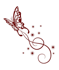 butterfly with swirls tattoos images for tatouage