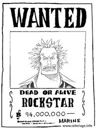 coloriage one piece wanted rockstar dead or alive dessin