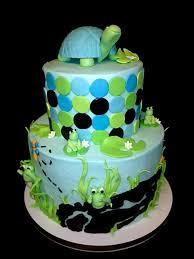 turtle baby shower sweet t s cake design peek a boo frogs and turtle baby shower cake