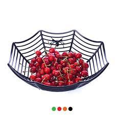 1pc plastic spider web fruits candy basket spiderweb bowl