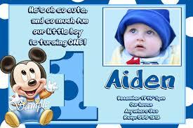 Free Birthday Card Invitation Templates Birthday Invites Captivating Mickey Mouse 1st Birthday
