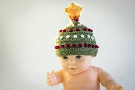 knitting pattern knitted baby christmas tree hat hat with star