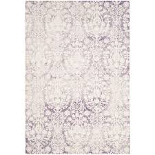 Lavender Area Rugs Safavieh Lavender Ivory 4 Ft X 5 Ft 7 In Area Rug