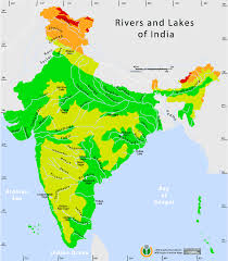 India Map Of States by Map With States And Rivers
