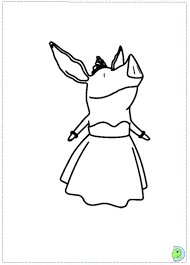 olivia the pig coloring page dinokids org clip art library