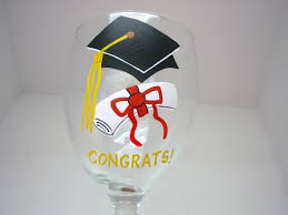 graduation wine glasses handpainted graduation wine glass graduation wine glass