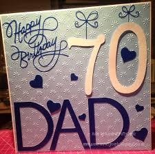 sandracraftycardz 70th birthday card made for a friends dad