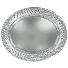 metal platters bulk large silver plastic oval platters with decorative edges at
