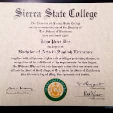 diploma samples certificates buy a fake college degree online cheaper than tuition com