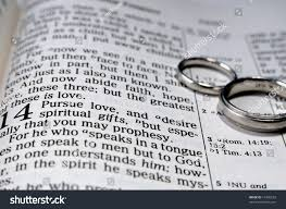 1 corinthians 13 wedding two wedding rings placed bible stock photo 13485253