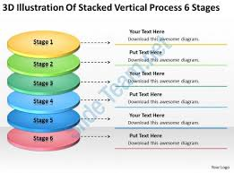 business organizational chart examples 6 stages powerpoint