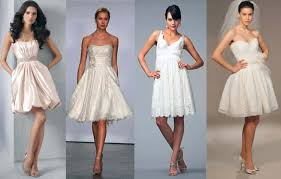 brides in trendy dresses mini dress style