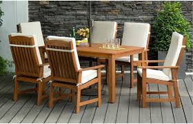 Patio Set 6 Chairs by 6 Seater Round Wooden Garden Table And Chairs Starrkingschool