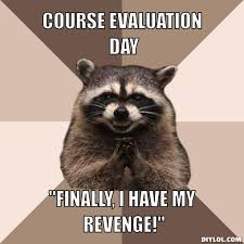 Evil Meme - evil plotting raccoon meme generator course evaluation day finally