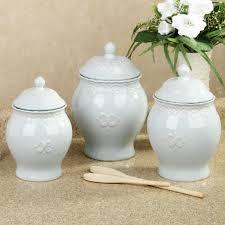 blue kitchen canister adeline pale blue kitchen canister set canisters pinterest