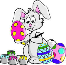 free easter bunny clip art image easter bunny coloring easter eggs