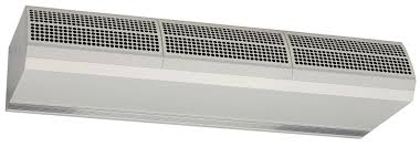 ambient air curtain horizontal with electric heating max