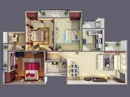 design interior rumah petak 30 denah rumah minimalis 3 kamar tidur 3d tiga dimensi fimell
