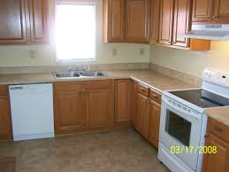Laminate Tile Flooring Lowes Beattie St After Kitchen Rehab All New Stock Cabinets From Lowes
