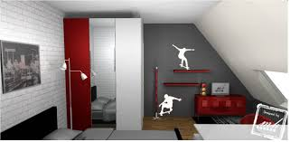 Chambre Ado Fille Design by Chambre Ado Fille Rouge Et Gris U2013 Chaios Com