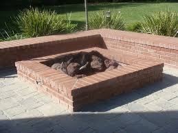 Brick Fire Pits by Home Design How To Build A Square Brick Fire Pit Popular In