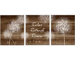 dandelion wood plaques wall dandelion wall etsy
