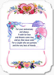 Wedding Verses Personalised Embroidered Wedding Anniversary Card Anvc003 By