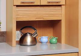 Roller Door Cabinets Spectacular Small Appliance Storage Cabinets With Appliance Garage