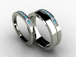 titanium wedding ring sets wedding band set titanium ring blue diamond titanium wedding