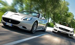2009 ferrari california vs 2009 mercedes benz sl63 amg