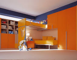 orange and blue bedroom orange and blue bedroom themes with modern bunk beds home interior