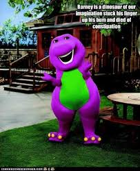 Barney The Dinosaur Meme - barney is a dinosaur of our imagination stuck his finger up his