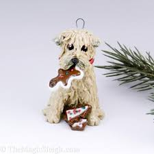 soft coated wheaten terrier ornament by themagicsleigh
