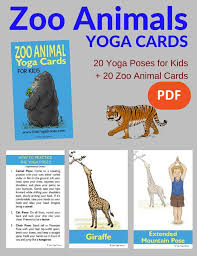 zoo animals cards for pdf stories