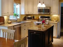 kitchen comfortable granite top small kitchen island and seating