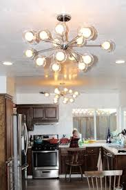 brushed nickel dining room light fixtures lighting brushed nickel sputnik ceiling light fixture for charming
