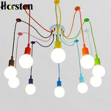 multi colored light fixture horsten modern colorful pendant l 10 heads multi colored silicone