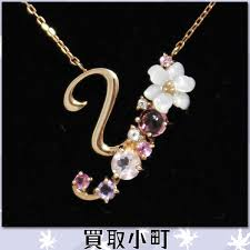 jewelry necklace letters images Kaitorikomachi rakuten global market samantha tiara flower jpg