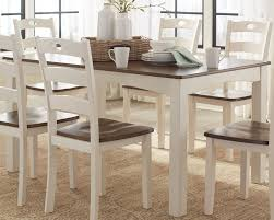 woodanville white and brown 7 piece dining room set from ashley