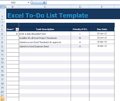 Excel List Templates To Do List Xls To Do List Template