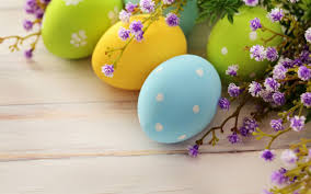colorful easter eggs white dots flowers hd wallpaper zoomwalls