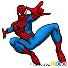 draw spiderman cartoon characters