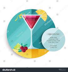 cosmopolitan martini recipe cosmopolitan cocktail drink recipe illustration colorful stock