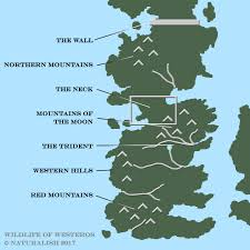 Map Of Westeros World by Wildlife Westeros The Animal Kingdom In Game Of Thrones
