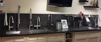 working kitchen faucet display including faucets by california