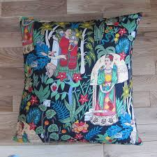 frida kahlo floor cushion by twentysevenpalms notonthehighstreet com